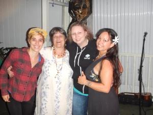 Girls of the Taco Tour of Destiny '14 re-connects at La Hiki Ola Kava Kombucha Bar in Pahoa, HI