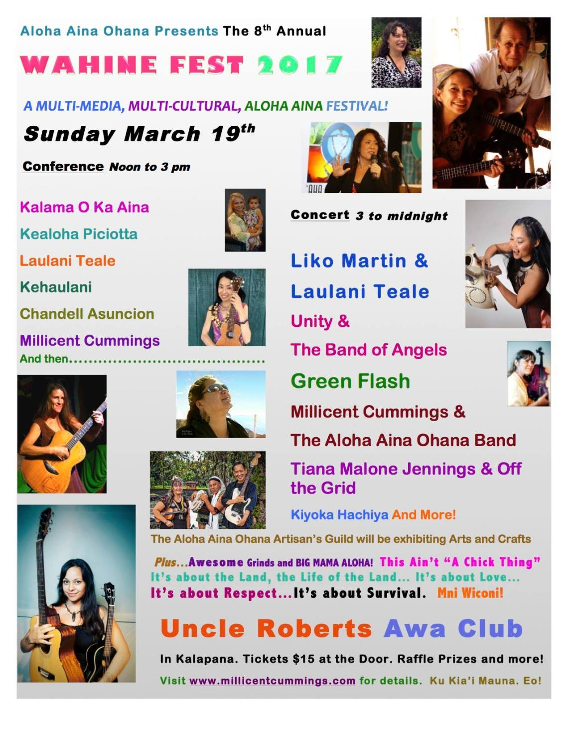 Wahine Festival ~ Sunday March 19th 2017 @ Uncle Roberts in Kalapana, HI